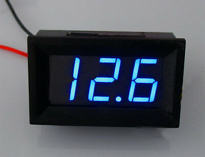 Mini Blue LED Volt Meter 4.5~30V For 9V 12V 24V No need power two cable generic