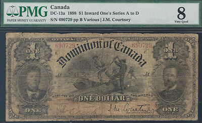 TMM# 1898 Dominion Of Canada Lumberjack Note DC-13a PMG VG8