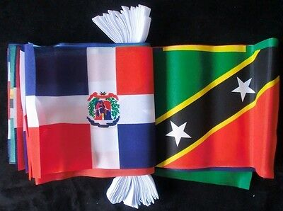 Caribbean Nations Country Flag 9 Metre Bunting
