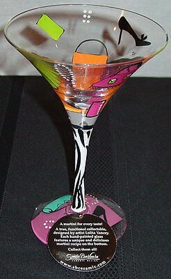 "LOLITA ""SHOPAHOLIC TOO""  LOVE MY MARTINI GLASS- w/ RECIPE ON THE BOTTOM NIB"
