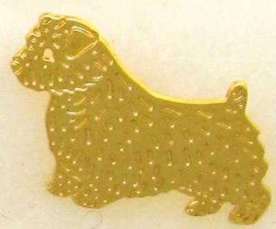 Norfolk Terrier Jewelry Gold Tie Tac