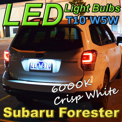 T10 W5W White LED Bulbs to fit Ford Falcon Parking Lights Parker BA BF FG