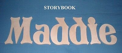 """Wooden Wall Letters 10"""" size Unpainted Wood Child Nursery Room Decor Storybook"""