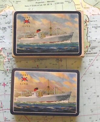 Rare Box Port Line Ocean Liner Playing Cards Mint Sealed Condition