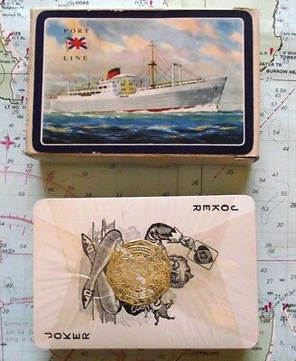 Superb Box Port Line Ocean Liner Playing Cards Mint Sealed Condition