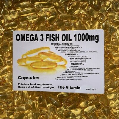 1000 OMEGA-3 FISH OIL CAPSULES, 1000mg MASSIVE SAVING!