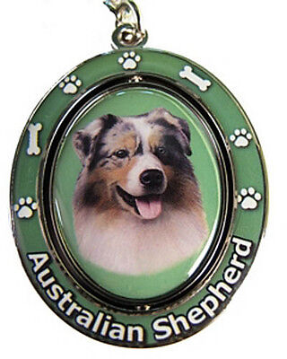 Australian Shepherd Spinning Keychain Dog Key Chain With Free USA Shipping - New