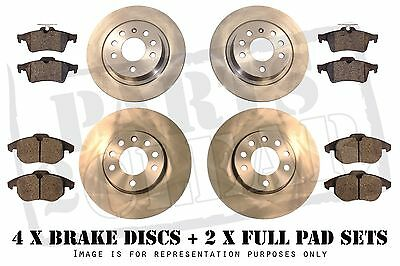 JAGUAR X TYPE FRONT & REAR BRAKE DISCS + PADS SET FULL 300mm Vented  2004-2009
