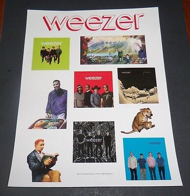 Weezer Promo Sticker Sheet (10) Total Color Stickers