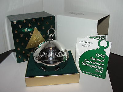 1993 WALLACE  SILVER SLEIGH BELL 23rd Annual Edition