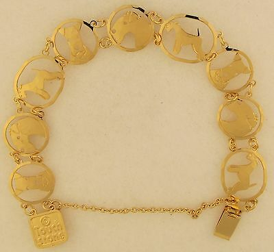 Lakeland Terrier Jewelry Gold Bracelet by Touchstone
