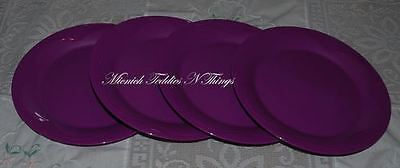 Tupperware Open House Purple Dessert Plate  Set Of Four