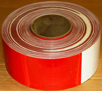 3M Scotchlite Diamond Grade Conspicuity Marking 981-32 Red/White 3 in x 150' DOT