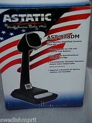 Astatic AST-878DM Amplified CB Ham Radio 6 PIN RCI Base Station Desk Microphone