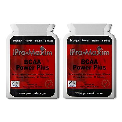 BCAA -Branched-Chain Amino Acids-Nutrition-Protein-Anabolic-60 x 1000 MG Capsule