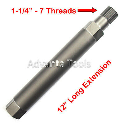 "12"" Core Bit Extension 1-1/4"" - 7 Male to 1-1/4"" - 7 Female"