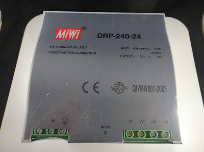 Din Rail Mounted 24VDC 10A Output 240W Power Supply