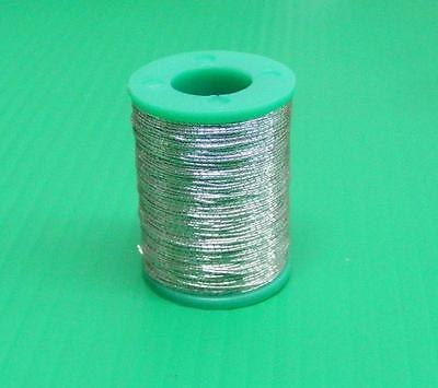 100 Yards Grade A Metalic Fishing Rod Building Whipping Thread - Silver