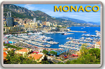 Monaco Fridge Magnet Souvenir New Imán Nevera