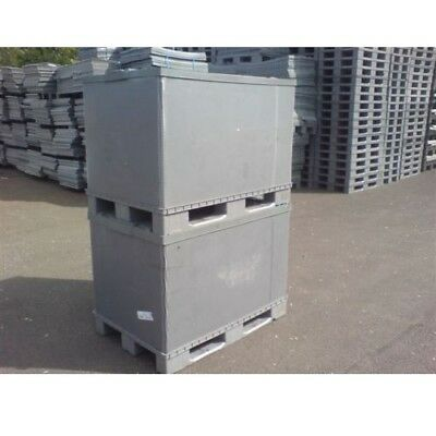 Plastic Storage Pallet Box Container 500Kg Capacity Set Of 5 - Grade A