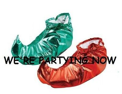 Elf Shoe Covers,green,red Or One Of Each! Fancy Dress
