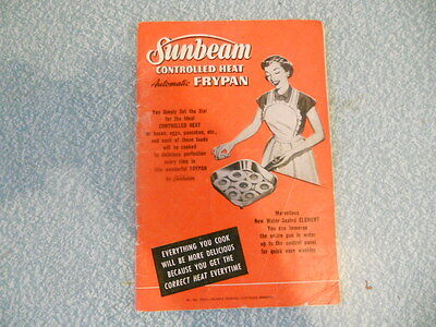 SUNBEAM controlled heat AUTOMATIC FRYPAN s/c 1959