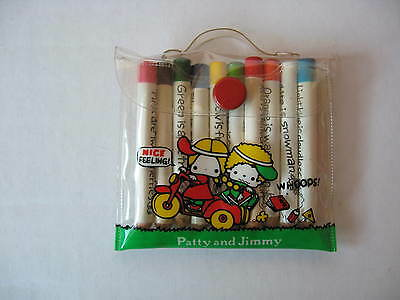 Sanrio Patty & Jimmy Mini Color Pencil Set Bicycle Vintage NEW 1976, 1990