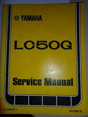 YAMAHA GENUINE PARTS FICHE MANUAL 1981 LC50 LC 50