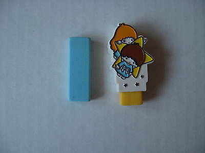 Sanrio Little Twin Stars Charm Eraser Set Interchangeable Vintage 1976 NEW