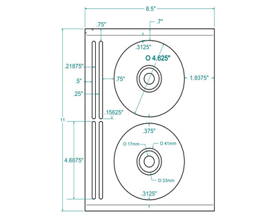 500 CD/DVD Labels  #5931™ Comparable Layout