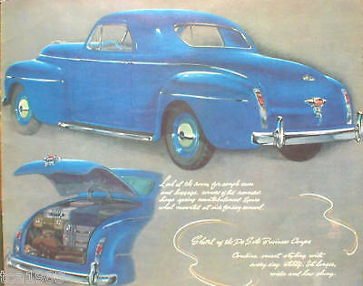 1941 DeSOTO Brochure:CLUB COUPE,TOWN SEDAN,BUSINESS,
