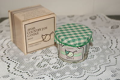 AVON  1985  COUNTRY  JAM  CANDLE  MINT