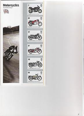 2005 Royal Mail Presentation Pack Motorcycles Mint Decimal Stamps
