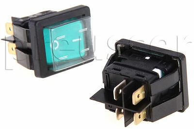 2 Green Rocker Switches for Carpet Cleaning Extractors EDIC Part# B02211-1