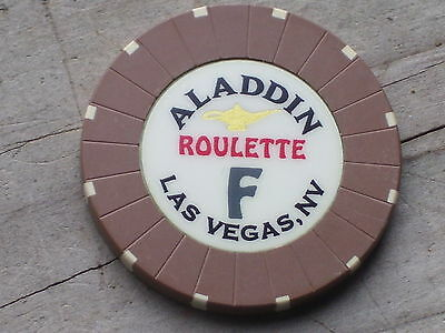 ROULETTE CHIP FROM THE ALADDIN CASINO, LAS VEGAS (bf)