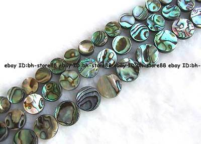 natural abalone Shell flat round Beads 15'' 10mm,12mm,14mm