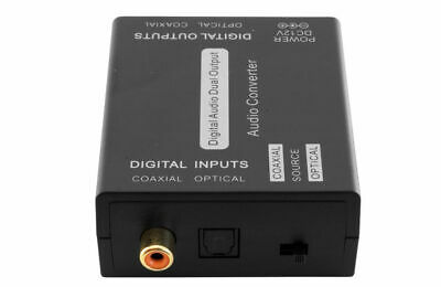 Coaxial Spdif To Optical Toslink  & Optical To Coaxial -  2 Way Converter  - New