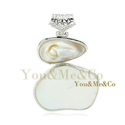 Natural Oyster Mother Of Pearl 925 Sterling Silver Pendant