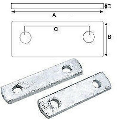 2 pack of 4-1/4 Inch Frame Boat Trailer Zinc Plated Frame Tie Plates