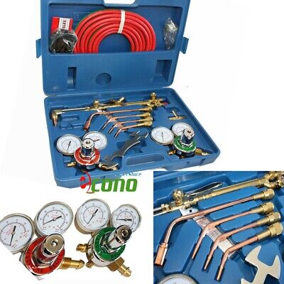 OXYGEN & ACETYLENE WELDING CUTTING OUTFIT TORCH SET GAS WELDER KIT w/15FT HOSES