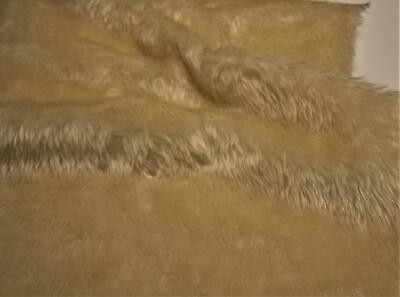 Plain Fun Faux Fur Fabric Material IVORY