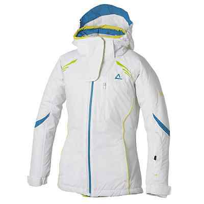 Girl's dare2b Ice Drop White Waterproof and Breathable Ski Wear & Winter Jacket