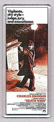 DEATH WISH movie poster large fridge magnet - CLASSIC BRONSON !