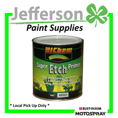 Super Etch Primer Grey 4L Epoxy Etch Primer Mild Steel Galvanised Steel Hichem M
