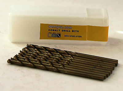 "1/16"" Cobalt Drill Bit - M35 High Speed Steel - 135 Split Point Tip - 10 pk"