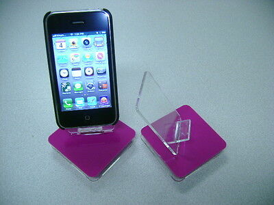 LOT 100 NEW STAND HOLDER CELL PHONE DISPLAY 1 in 1 HOT PINK