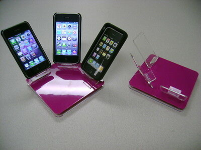 LOT 10 NEW STAND HOLDER CELL PHONE DISPLAY 3 in 1 HOT PINK