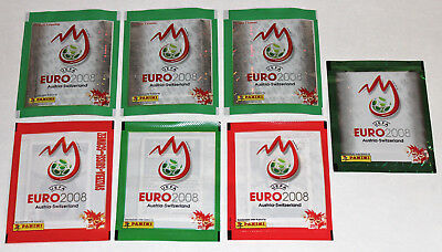 Panini EM EC Euro 2008 08 – 7 x 1 Tüte packet bustina sobre ALL VERSIONS! MINT!