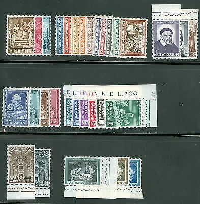 Vatican City 1960 Compete MNH Year Set