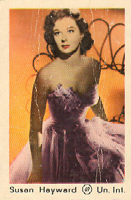 DUTCH MOVIE STAR GUM CARDS - No. 069 SUSAN HAYWARD